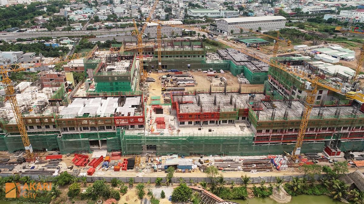 Công trường Block AK1 và AK6 dự án Akari City Bình Tân